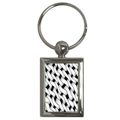 Black And White Pattern Key Chains (rectangle)  by Simbadda
