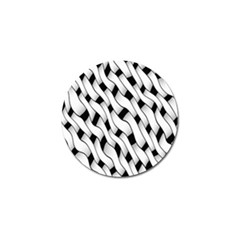 Black And White Pattern Golf Ball Marker (10 Pack) by Simbadda