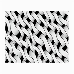 Black And White Pattern Small Glasses Cloth (2-side) by Simbadda