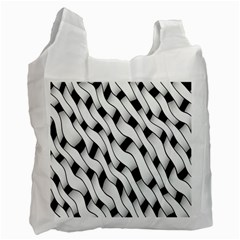 Black And White Pattern Recycle Bag (one Side) by Simbadda