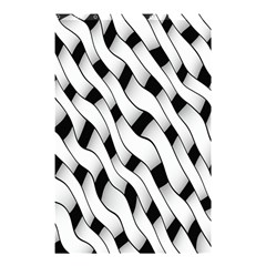 Black And White Pattern Shower Curtain 48  X 72  (small)  by Simbadda