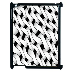 Black And White Pattern Apple Ipad 2 Case (black) by Simbadda