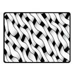 Black And White Pattern Double Sided Fleece Blanket (Small)  45 x34 Blanket Back