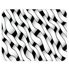Black And White Pattern Double Sided Flano Blanket (medium)  by Simbadda
