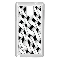 Black And White Pattern Samsung Galaxy Note 4 Case (white)