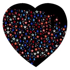 America Usa Map Stars Vector  Jigsaw Puzzle (heart)