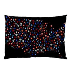 America Usa Map Stars Vector  Pillow Case (two Sides) by Simbadda