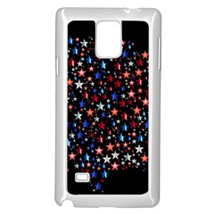 America Usa Map Stars Vector  Samsung Galaxy Note 4 Case (white)