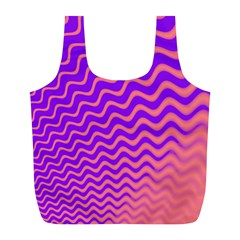 Pink And Purple Full Print Recycle Bags (l)