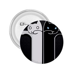 Texture Cats Black White 2 25  Buttons by Simbadda