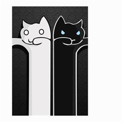 Texture Cats Black White Small Garden Flag (two Sides) by Simbadda