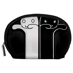 Texture Cats Black White Accessory Pouches (large)  by Simbadda