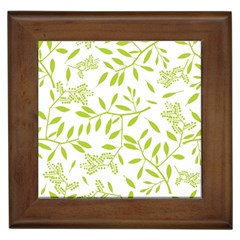 Leaves Pattern Seamless Framed Tiles by Simbadda