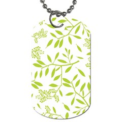 Leaves Pattern Seamless Dog Tag (two Sides)