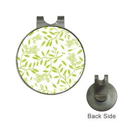 Leaves Pattern Seamless Hat Clips With Golf Markers by Simbadda