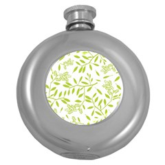 Leaves Pattern Seamless Round Hip Flask (5 Oz) by Simbadda