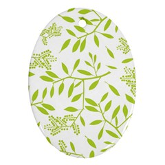 Leaves Pattern Seamless Oval Ornament (two Sides)