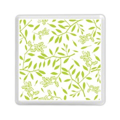 Leaves Pattern Seamless Memory Card Reader (square)  by Simbadda