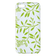 Leaves Pattern Seamless Iphone 5s/ Se Premium Hardshell Case