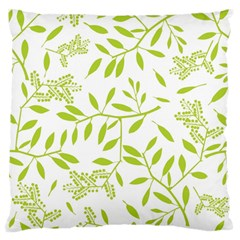 Leaves Pattern Seamless Large Flano Cushion Case (one Side) by Simbadda