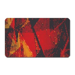 Surface Line Pattern Red Magnet (rectangular) by Simbadda