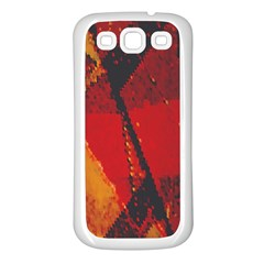 Surface Line Pattern Red Samsung Galaxy S3 Back Case (white)