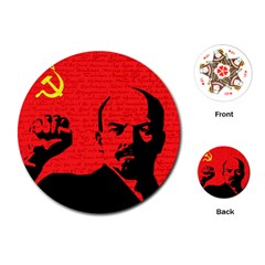 Lenin  Playing Cards (round)  by Valentinaart