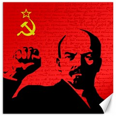 Lenin  Canvas 12  X 12   by Valentinaart