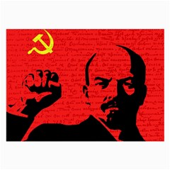 Lenin  Large Glasses Cloth (2 Side) by Valentinaart