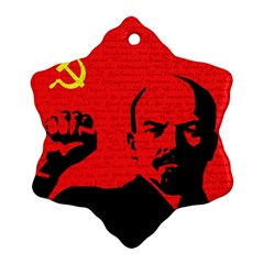Lenin  Snowflake Ornament (two Sides) by Valentinaart