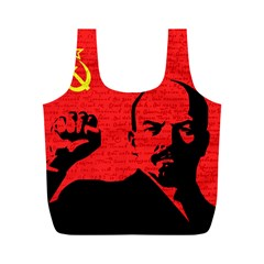 Lenin  Full Print Recycle Bags (m)  by Valentinaart