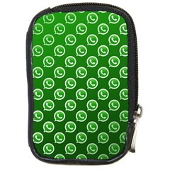 Whatsapp Logo Pattern Compact Camera Cases by Simbadda