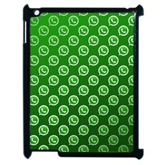 Whatsapp Logo Pattern Apple Ipad 2 Case (black) by Simbadda