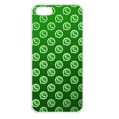 Whatsapp Logo Pattern Apple Iphone 5 Seamless Case (white) by Simbadda