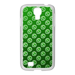 Whatsapp Logo Pattern Samsung Galaxy S4 I9500/ I9505 Case (white)