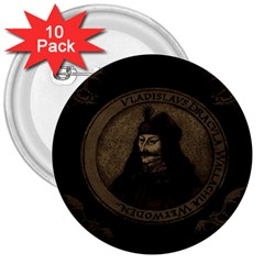 Count Vlad Dracula 3  Buttons (10 Pack)  by Valentinaart