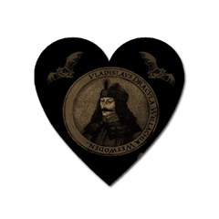 Count Vlad Dracula Heart Magnet by Valentinaart