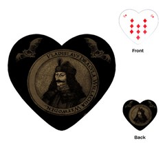 Count Vlad Dracula Playing Cards (heart)  by Valentinaart