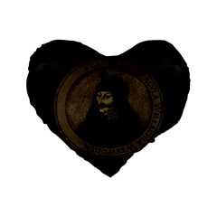 Count Vlad Dracula Standard 16  Premium Heart Shape Cushions by Valentinaart