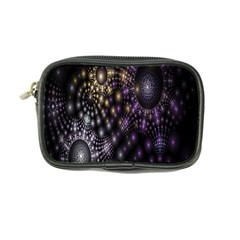 Fractal Patterns Dark Circles Coin Purse by Simbadda