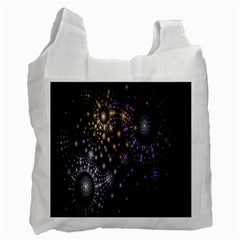 Fractal Patterns Dark Circles Recycle Bag (one Side) by Simbadda