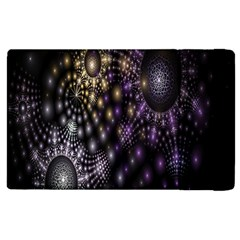 Fractal Patterns Dark Circles Apple Ipad 2 Flip Case by Simbadda