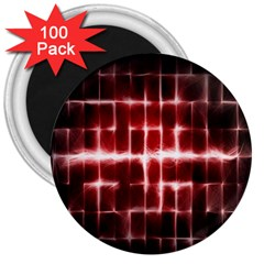 Electric Lines Pattern 3  Magnets (100 Pack)