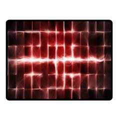 Electric Lines Pattern Fleece Blanket (small) by Simbadda