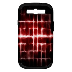 Electric Lines Pattern Samsung Galaxy S Iii Hardshell Case (pc+silicone) by Simbadda