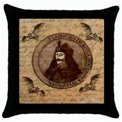 Count Vlad Dracula Throw Pillow Case (black) by Valentinaart