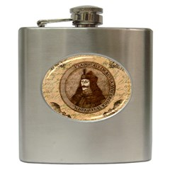 Count Vlad Dracula Hip Flask (6 Oz) by Valentinaart
