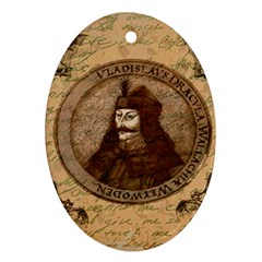 Count Vlad Dracula Oval Ornament (two Sides) by Valentinaart