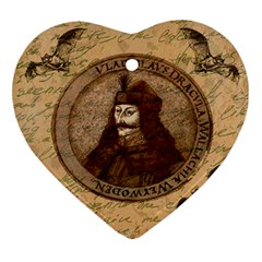 Count Vlad Dracula Heart Ornament (two Sides) by Valentinaart