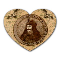 Count Vlad Dracula Heart Mousepads by Valentinaart